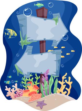 signage: Illustration Featuring Underwater Signage