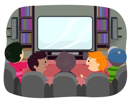 watching: Stickman Illustration of Boys Watching TV