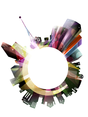 wormhole: Illustration Featuring City Lights - eps10