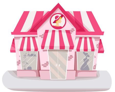 clothing store: Illustration of a Boutique Selling Clothes and Accessories for Women