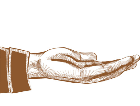 beg: Illustration of a Hand with the Palm Facing Upward