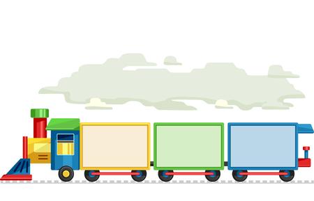 ferrocarril: Ilustración que ofrece de vagones de tren de tablas en blanco