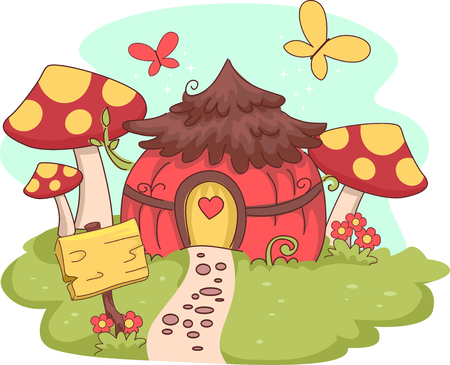 shack: Whimsical Illustration of a Fairy House