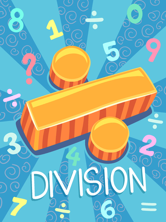 Illustration Featuring the Division Symbol Stock Photo
