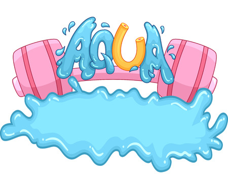 hydrate: Typography Illustration Featuring the Word Aqua Stock Photo