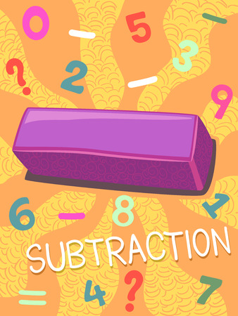 grade schooler: Illustration Featuring the Subtraction Symbol
