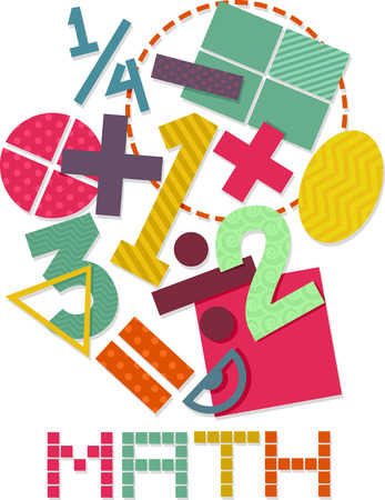 Illustration Featuring Math Related Elements Stock Photo