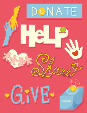 goodwill: Illustration of Donation Related Elements