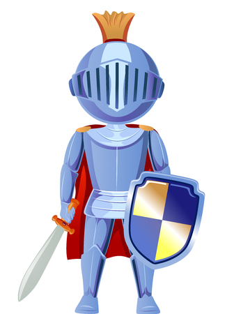 storybook: Illustration of a Boy Dressed as a Knight