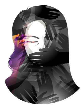 tyranny: Illustration of a Woman With Her Mouth Being Covered -