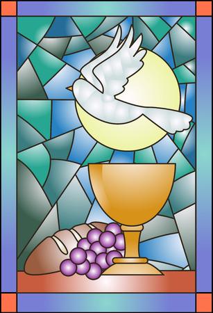 Buntglas-Illustration, Kommunion Ähnliche Artikel Standard-Bild