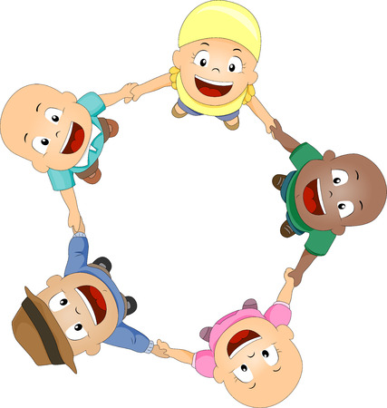 playtime: Illustration of Young Cancer Patients Forming a Circle