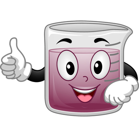 Mascot Illustration of a Beaker Giving a Thumbs Up Stock Photo