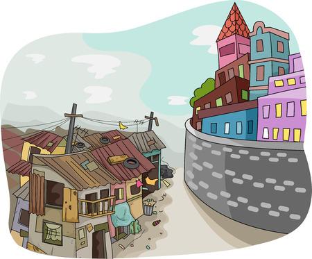 Landscape Illustration of a 写真素材