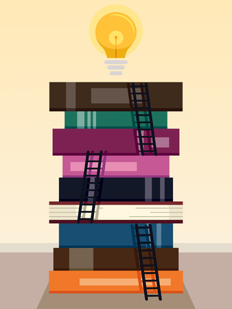 Bright Light Books Enchanting Conceptual Illustration Featuring A Bright Light Bulb Standing