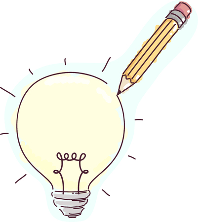 Concept Illustration Featuring a Pencil Drawing on the Surface of a Light Bulb