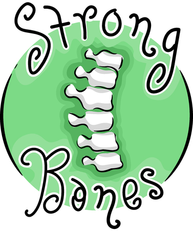 Illustration of a Spine Icon and Strong Bones