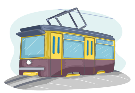 Illustration of a Tram on the Tramway