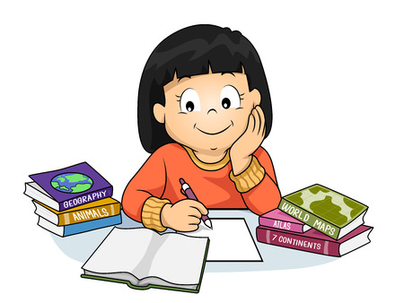 Image result for doing homework clipart