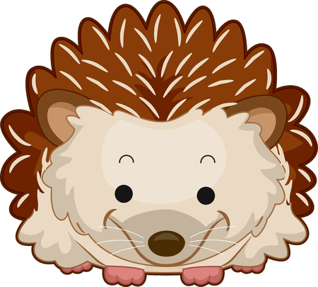 Illustration of a Hedgehog with Spines Smiling