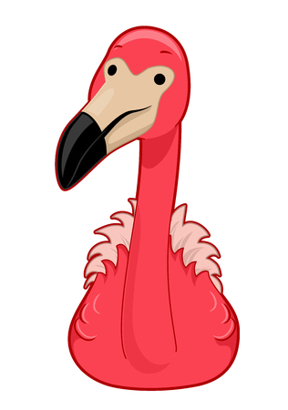 Illustration of a Pink Flamingo Bird Reklamní fotografie - 114682793