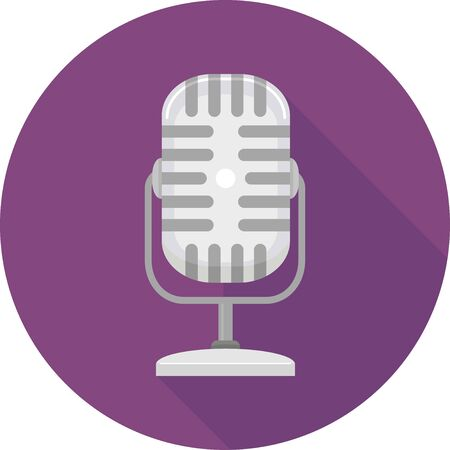 Microphone Icon for Podcasting
