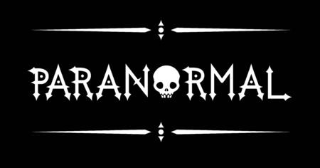 Paranormal Lettering with a Skull in Black and White