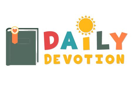 Book with Bookmark and Daily Devotion Lettering
