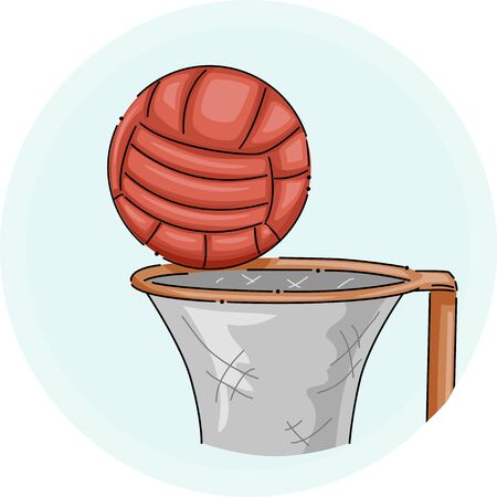 Illustration of a Net and a Ball for Netball Sports