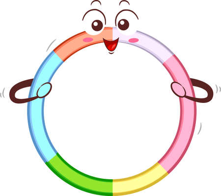 Illustration of a ring Hoop Mascot Smiling