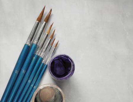 Paint brushes 版權商用圖片