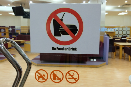No food or drink in the library