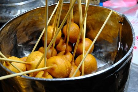 Candy Bomb Dessert from Thailand or Kanom Look Ra-bert Banco de Imagens