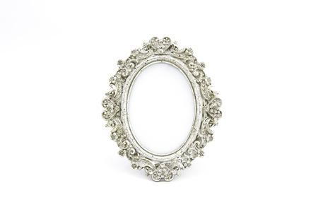 Silver frame oval antique
