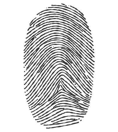 fingerprint: Black and White Fingerprint.