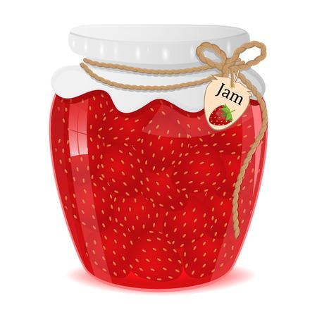 strawberry jam: Strawberry jam - Illustration.