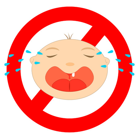 expressing negativity: No baby sign on white background. Illustration