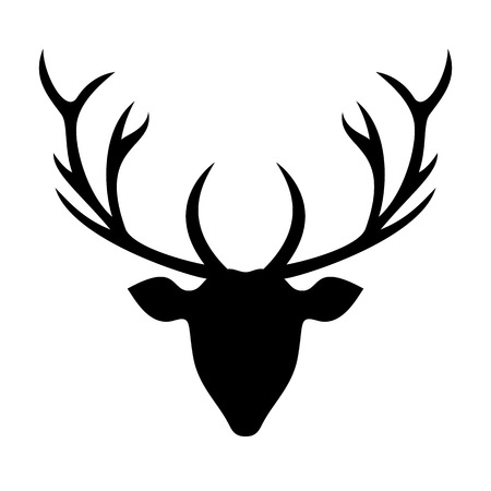 Deer head silhouette - Illustration.