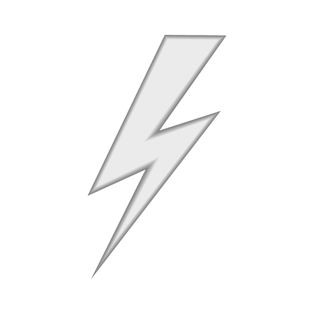 threaten: Lightning icon abstract isolated on a white backgrounds