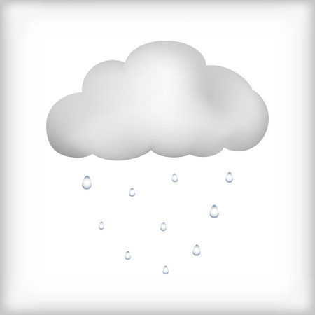 gush: Cloud rain icon isolated on white background