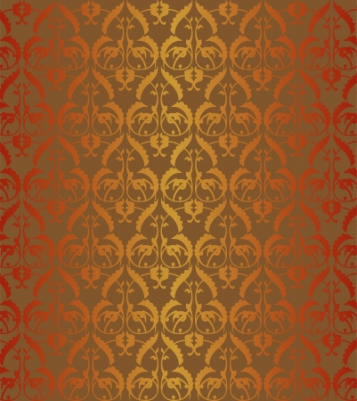 dirty carpet: Gold ornament, seamless wall-paper
