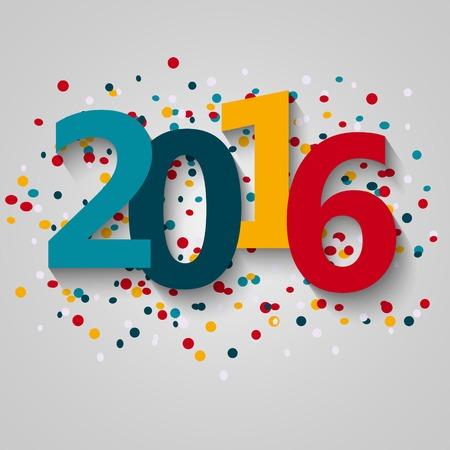 calendario diciembre: Feliz a�o nuevo 2016