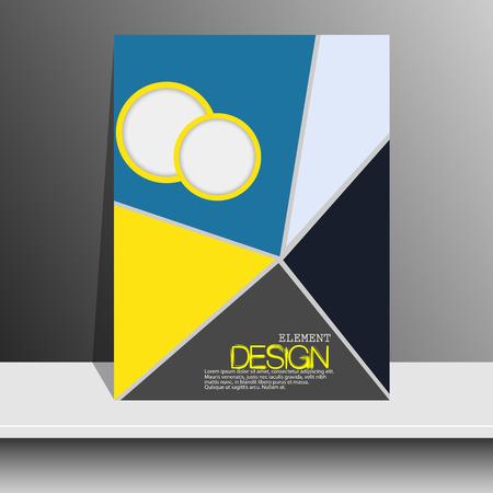 portada de revista: Portada de la revista con piezas de dise�o vectorial Paper.Booklet color. Flyer, portada del folleto, la plantilla del cartel.