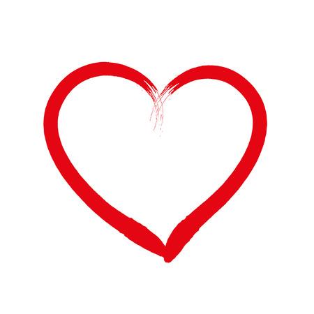 Hart liefde tekening valentine Vector Illustratie