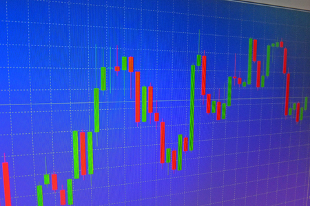 forex: Forex graph background work for trading and analysis Stock Photo