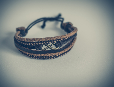 suave: Jewelry, bracelet, isolated, leather hand strap, modern