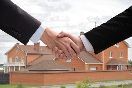 the transaction: Business hand shake. Successfully spent transaction.