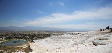 carbonates: Travertine pools and terraces, Pamukkale, Turkey Stock Photo