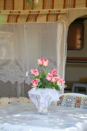 summer table served in the open air photo