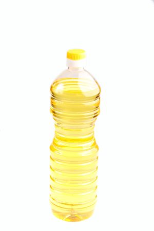 sunflower-seed oil bottle isolated on the white background Stock Photo - 5794822